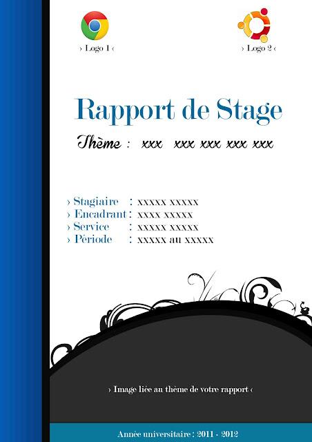 ... avec vous une page de garde Pour vos rapports de stage format (.PSD