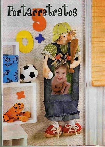 Moldes e passo a passo boneco porta retrato