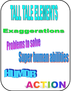 tall tales super heroes Ruth S. english language arts reading novels