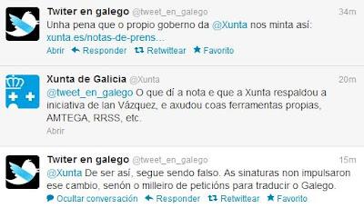 A Xunta atribúese o mérito do Twitter en galego