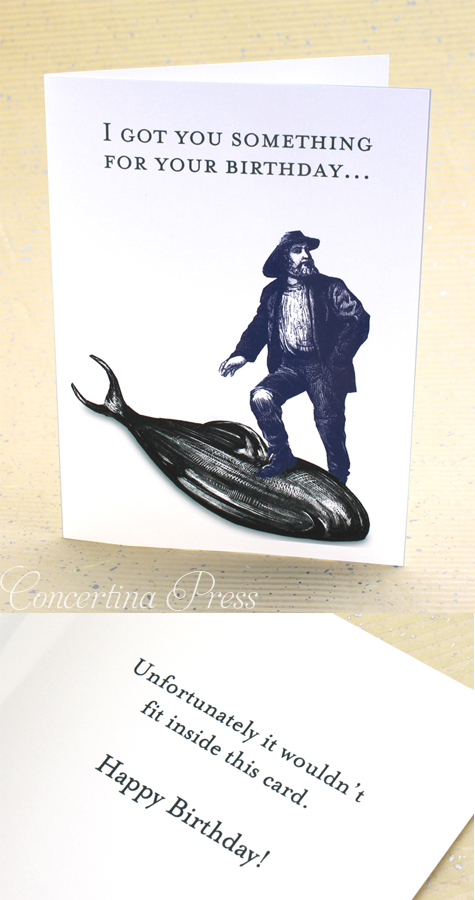 Funny Fisherman Birthday Card