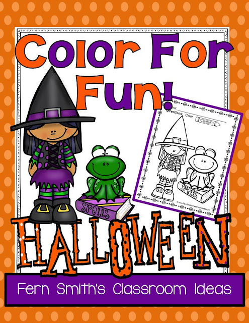 Fern Smith's Classroom Ideas Color for Fun, Family Pets and Halloween Fun! Color For Fun Printable Coloring Pages at TeacherspayTeachers!