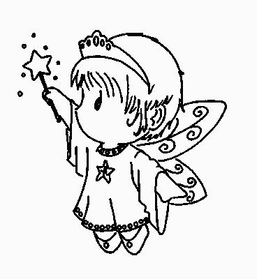 Dibujos y Plantillas para imprimir: Dibujos angelitos para ...