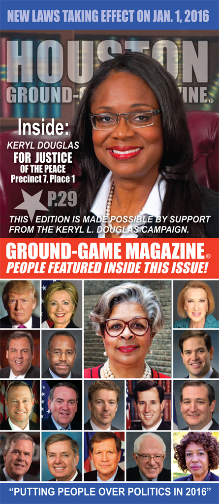 ATTORNEY KERYL L. DOUGLAS IS THE FEATURED PERSON ON THIS EDITION OF GROUND GAME MAGAZINE
