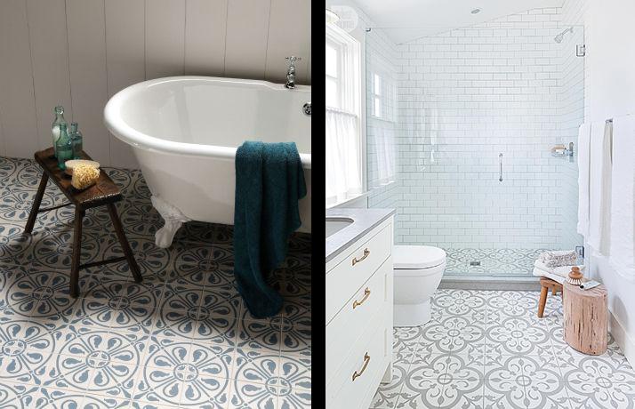 La fabrique d co choisir un carrelage original pour sa for Salle de bain carreau ciment