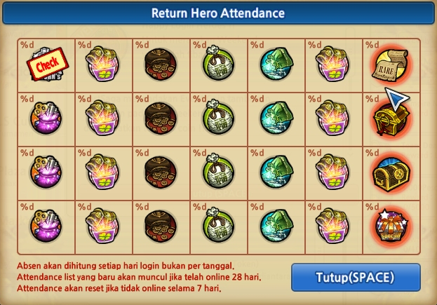 Return Attendance Lost Saga