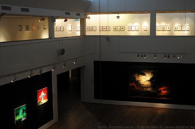 borås, konstmuseum, utställning, helvete, marcus larson, hav i månsken, brinnande skepp, foto anders n