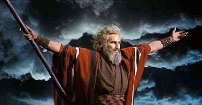 Ten Commandments Moses and staff part the ocean & empty the hallways!