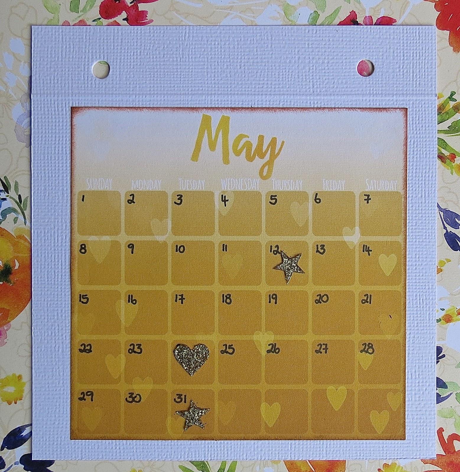 May Calendar Girl Book : Small but powerful calendar girl birthday book bobunny dt