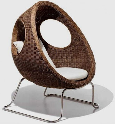 Oval Shaped Modern Rattan Sofa #3