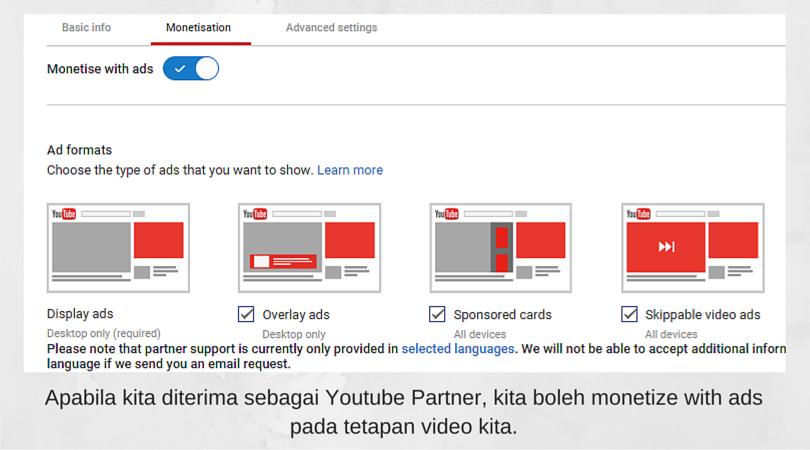 Cara Menjadai Youtube Partner Program