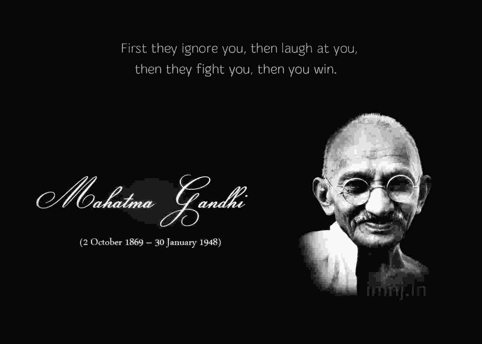 Philosophies of Mohandas Gandhi?
