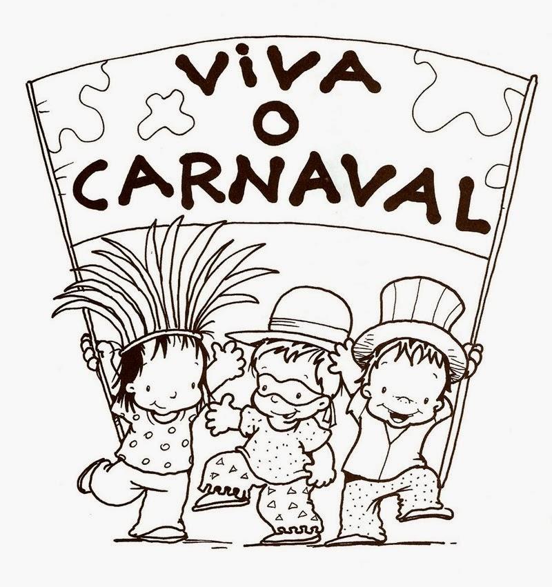 Modelos desenhos para colorir carnaval 2014