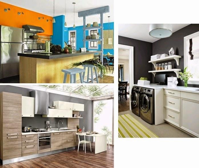 Cocina de colores decoracion casas ideas interiores for Cocinas colores combinados