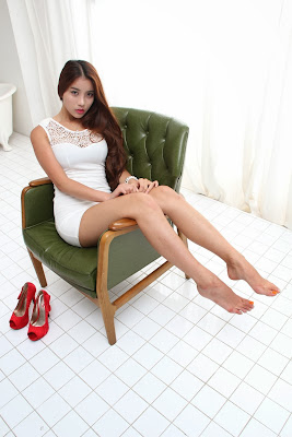 Cha Jung Ah Sexy in White