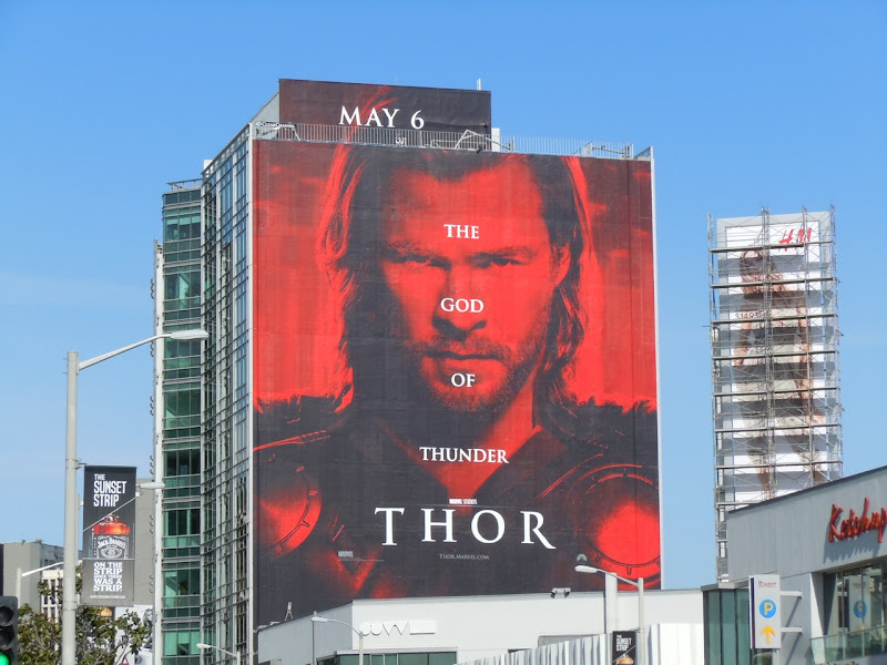 Thor movie billboard Sunset Strip