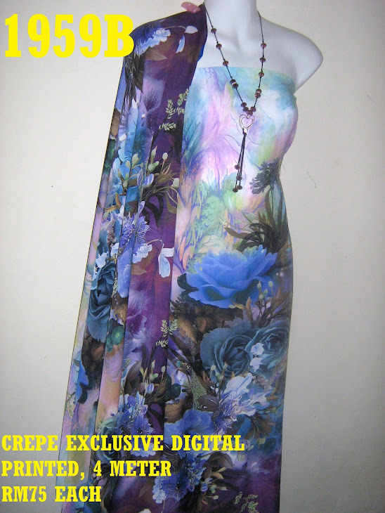 CDP 1959B: CREPE EXCLUSIVE DIGITAL PRINTED, 4 METER