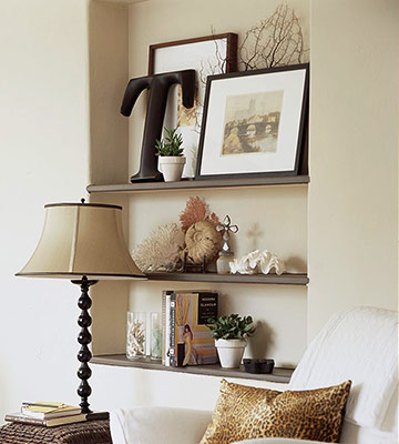 Modern furniture 2012 ideas for storage in charming displays for How to decorate an alcove in a wall