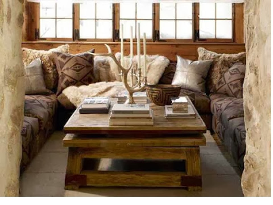 Chalet room designed by Ralph Lauren