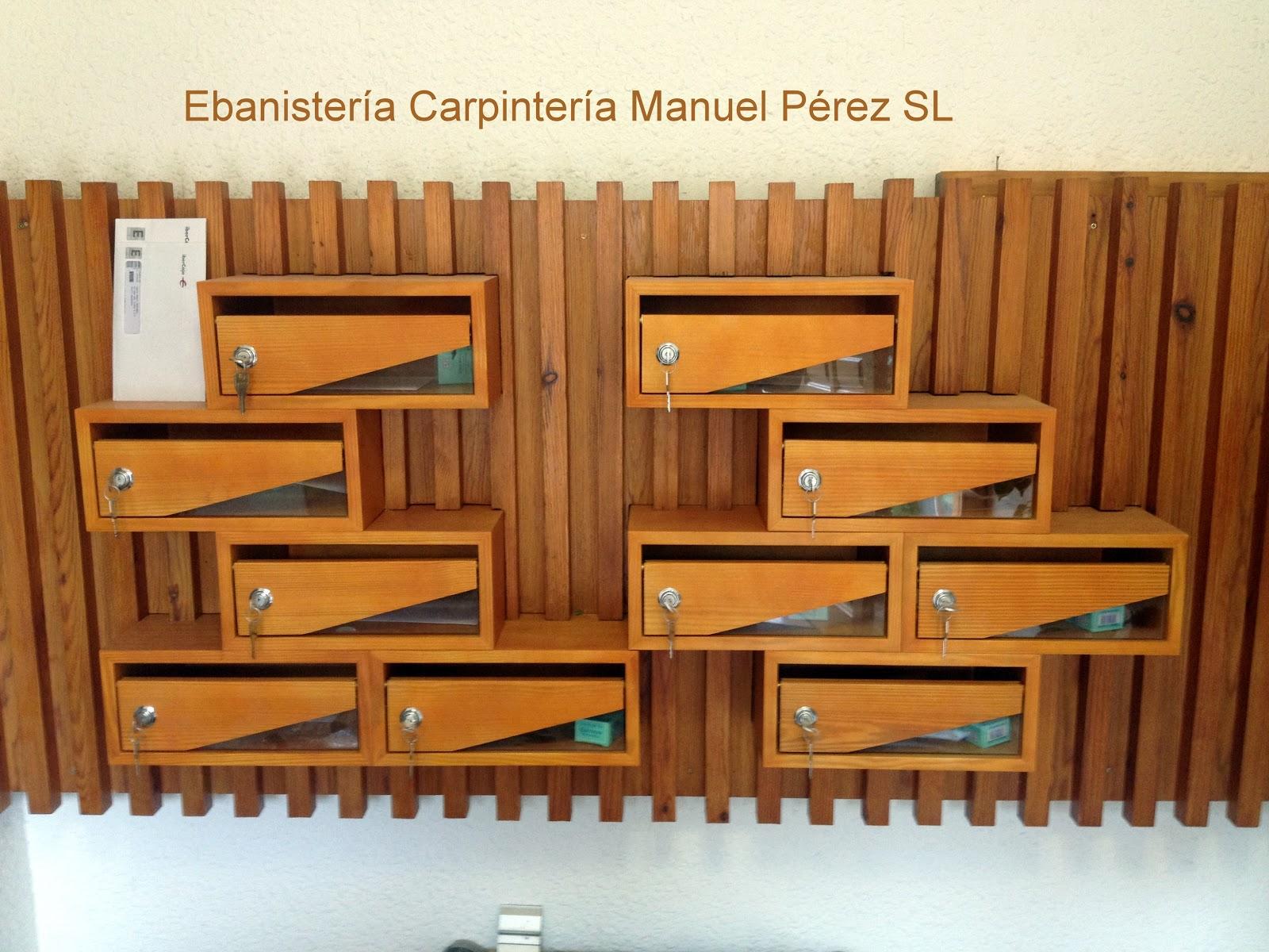 Ebanisteria carpinteria manuel perez zaragoza buzones for Carpinteria en madera