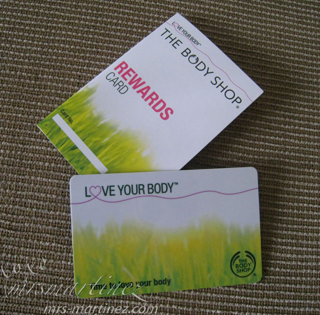 The Body Shop Love Your Body Rewards Card Frequent shoppers can opt into The Body Shop Rewards Card program where members get 10% off most in-store and online purchase with birthday deals and more. See all details about this program here. Please note that the program membership fee is $