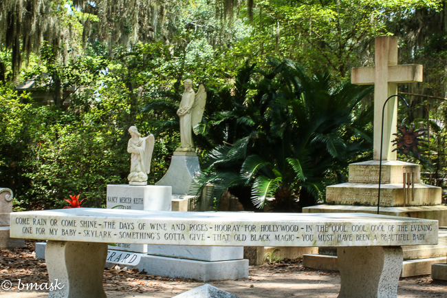 Grave site of Johnny Mercer, the famous American Song writer.