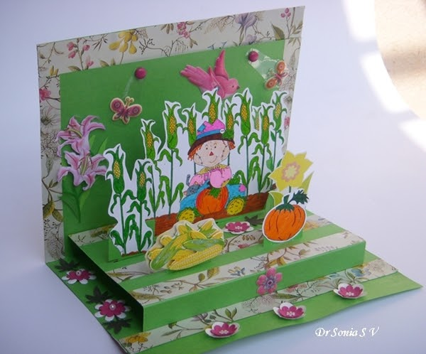 Cards crafts kids projects interactive pop up card for Pop up card craft