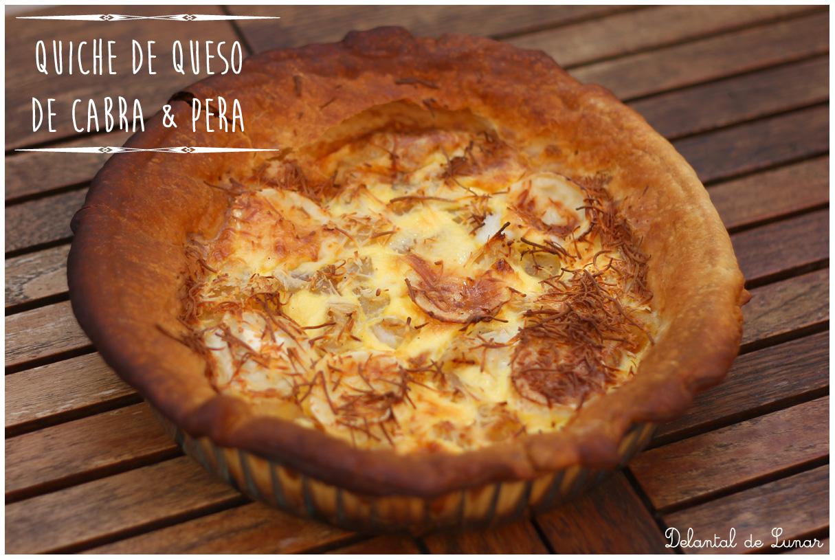 Foto: Receta de Quiche de queso de cabra y pera