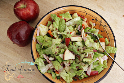 Waldorf Salad with {Homemade} Raspberry Vinaigrette