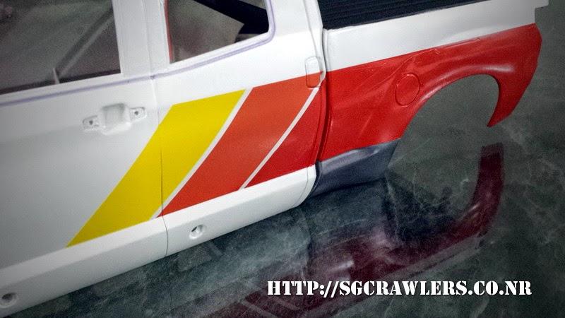tamiya - Boolean21's Tamiya Highlift Tundra - new paint scheme - Ivan Stewart Toyota Theme 20140802_014634