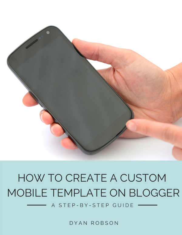 How to create a custom mobile template on Blogger eBook from And Next Comes L