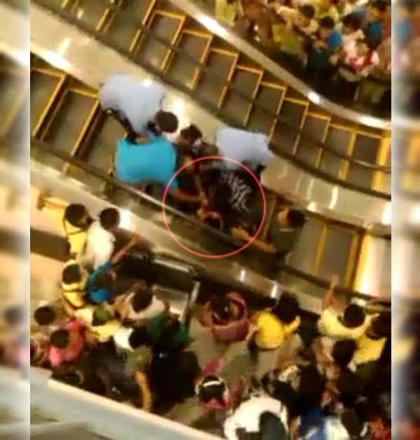 GenSan KCC Mall escalator accident, August 2014