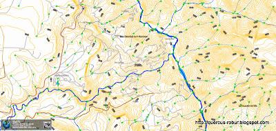 Mapa hidrológico del cañón de Huaxtla o del Jaguar