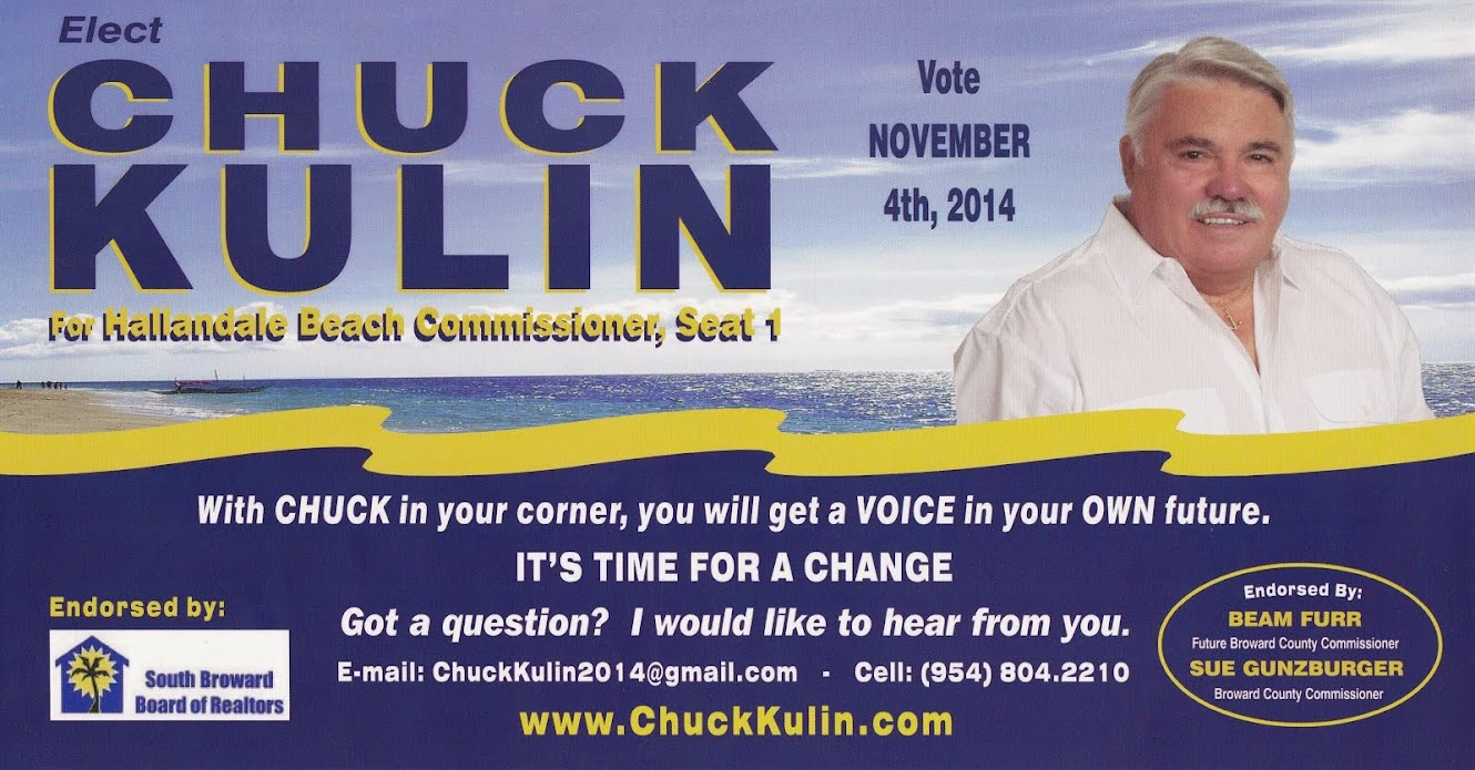 Elect Chuck Kulin For Hallandale Beach City Commission, Seat 1