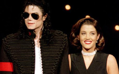 Michael Jackson with his wife Presley