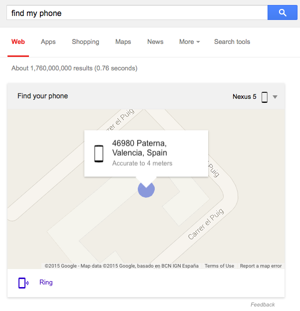 Find Your Android Phone Using Google Search