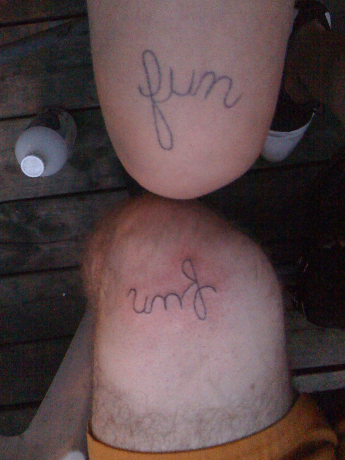 Not Pictured Is Margus' Brother Velo's Fun Knee Tattoo Done By Margus
