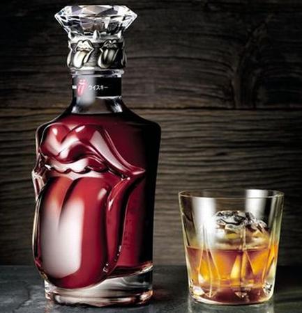 rolling stones golden jubilee whiskey bottle suntory