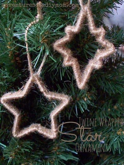 Twine Wrapped Star Ornaments