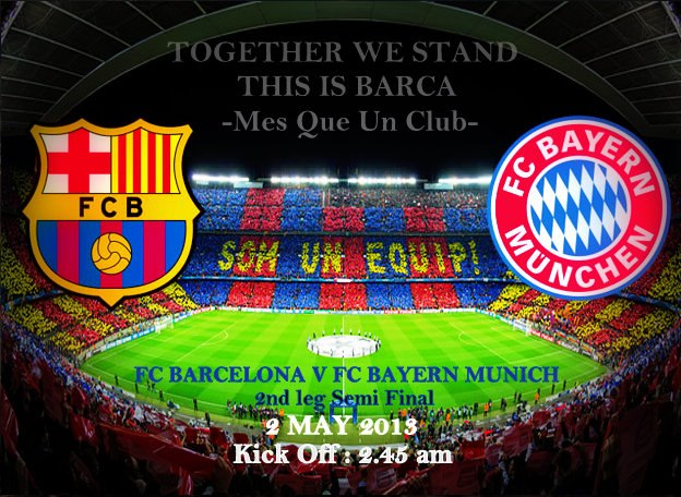 Live Streaming Barcelona vs Bayern Munich UEFA Champions League Semi