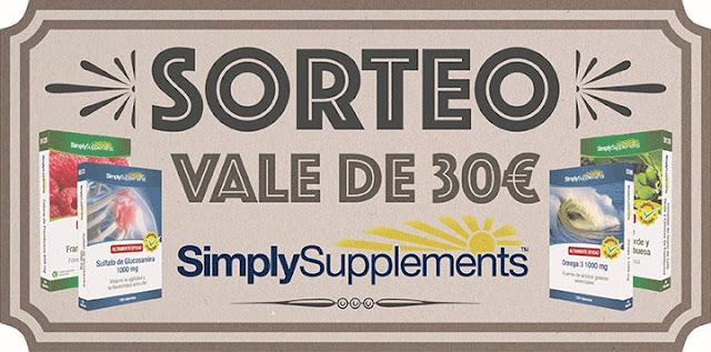 "Sorteo Vale 30? en ""Simply Supplements"""