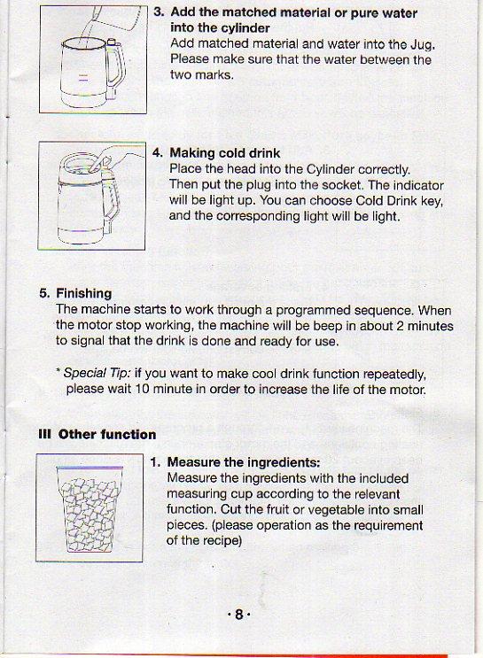 joyoung soy milk maker manual