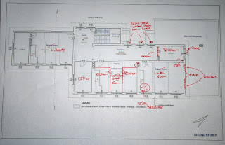 My scribblings for the first floor