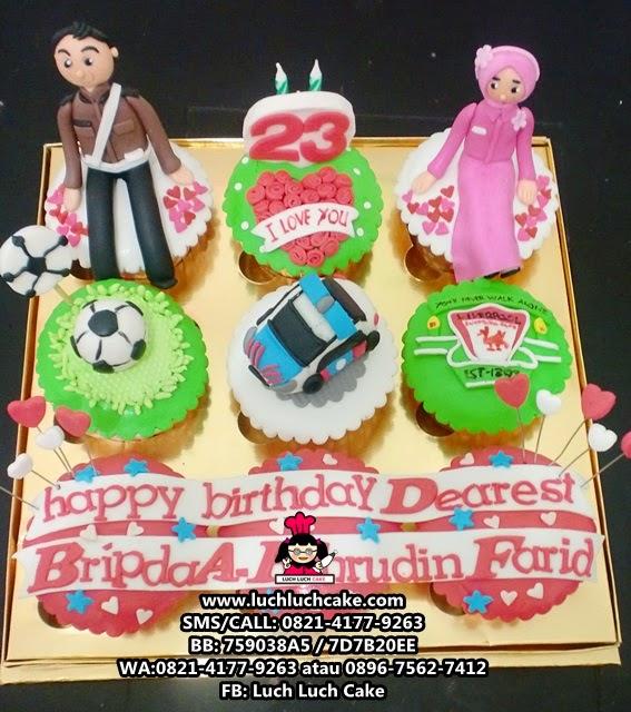 Cupcake Tema Polisi dan Arsenal Daerah Surabaya - Sidoarjo