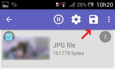 Salvar fotos recuperadas do Android