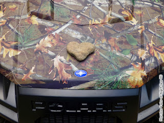 Pictures from the Idaho Mountains; I heart Polaris. a natural stone heart I found and placed on the hood of the side-by-side. Night Sea 90.