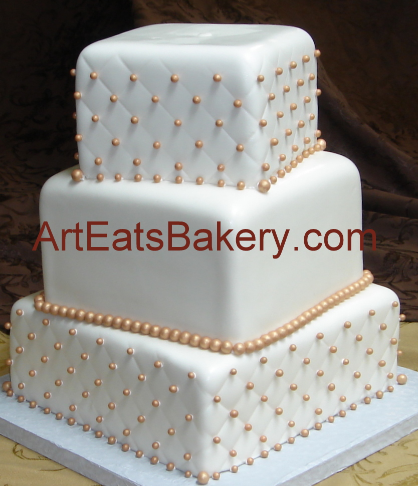 famous two tier square wedding cakes