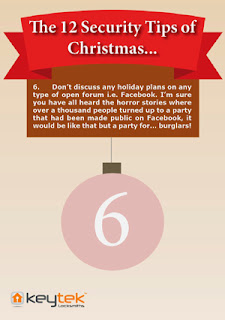 Keytek 24 hour locksmiths tip 6 of The 12 Security Tips of Christmas