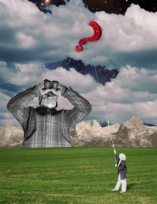 Joseba Elorza MiraRuido illustrations collages surreal vintage New Scientist magazine