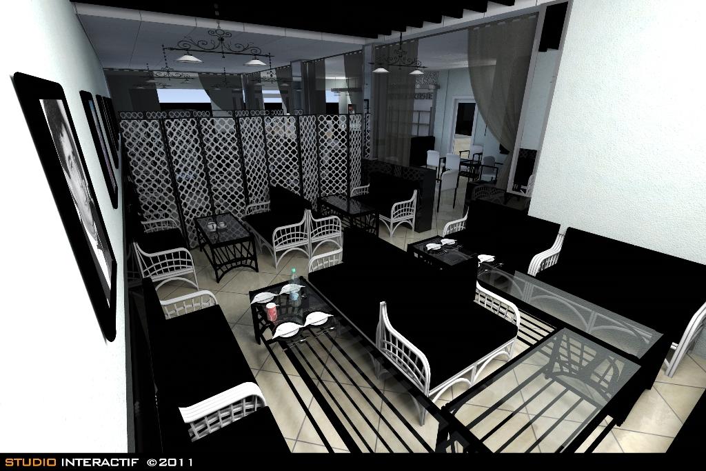 studio interactf amenagement d 39 un restaurant a alger. Black Bedroom Furniture Sets. Home Design Ideas